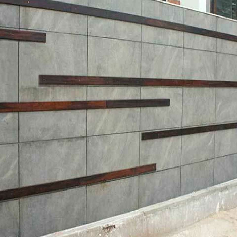 grey granite compound wall