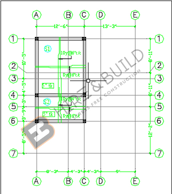 First floor roof slab layout1