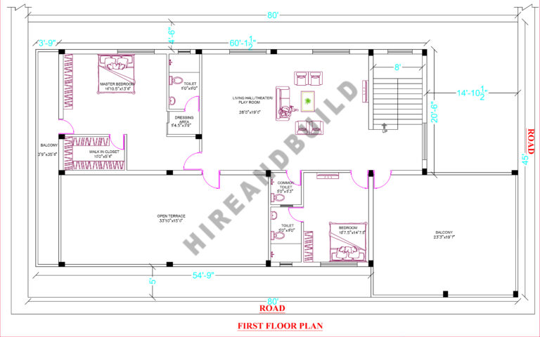 3bhk house plan with car parking:Ff